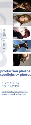banner advert for Keith Morris's photography - production photos and CV spotlight photographs