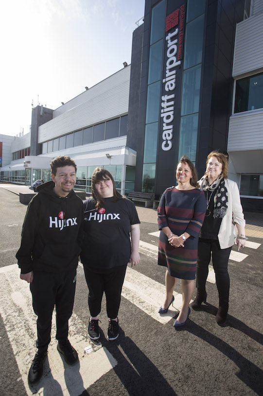 There's hijinx at Cardiff Airport thanks to Arts & Business Cymru's 100th Investment